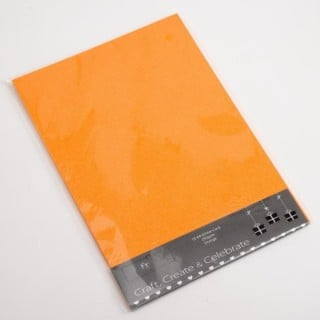 Glitter Kaarten Oranje - 10 Stuks