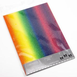 Glitter Kaarten Regenboog - 10 Stuks