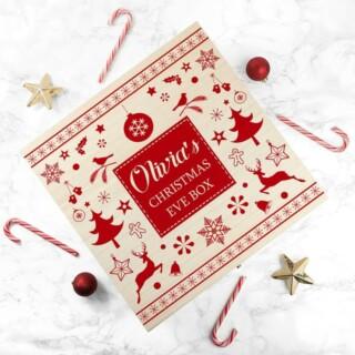 Feestelijke Houten Kerstdoos met Naam