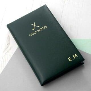 Golf Notitieboek van Leer Gepersonaliseerd - Groen
