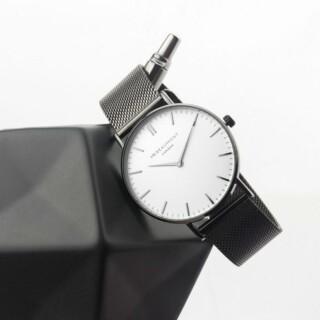 Mr Beaumont Heren Horloge Grijs Metallic & Witte Wijzerplaat Gepersonaliseerd