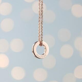 Halsketting met Naam op Mini Ring