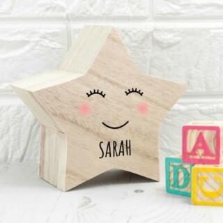 Bewaardoosje Baby met Naam - Smiling Star