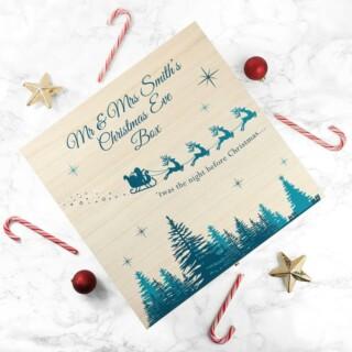 Houten Doos voor Kerst tradities met Namen