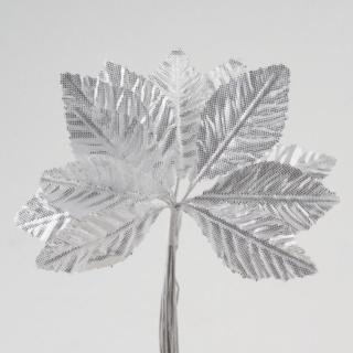 Zilver Satijnen Blaadjes - 144 stuks