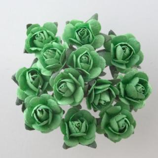 Papieren Theeroos Groen - 144 stuks
