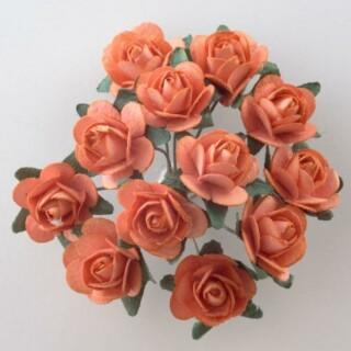 Papieren Theeroos Oranje - 144 stuks