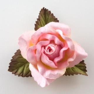 Grote Open Roos Pink - 12 stuks