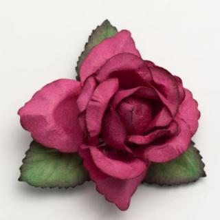 Grote Open Roos Fuchsia - 12 stuks