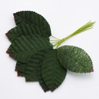 Roos Corsage bladeren Groen - 30 stuks