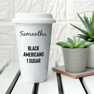 Eco Travel Mug met Naam en Bestelling