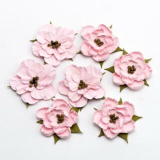 Papier Bloesems - Zacht Roze 7 stuks