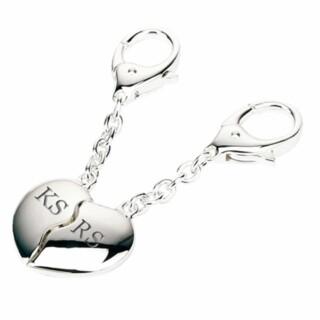 Sleutelhangers Zilver met Initialen - Joining Hearts