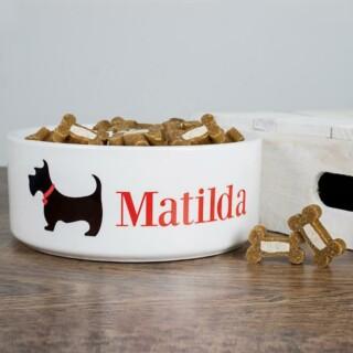 Keramische Voorbak met Schotse Hond - Gepersonaliseerd