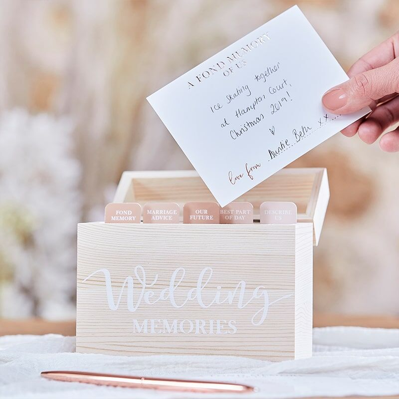 Wedding Memory Box Hout