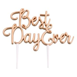 Best Day Ever Taarttopper Goud